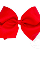 wee ones RED- MINI  CLASSIC GROSGRAIN  BOW