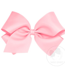 wee ones PEARL PINK - MINI CLASSIC GROSGRAIN  BOW