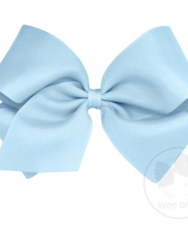 wee ones MILLENNIUM BLUE- MINI  CLASSIC GROSGRAIN  BOW