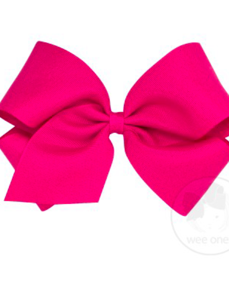 wee ones HOT PINK- MINI CLASSIC GROSGRAIN  BOW