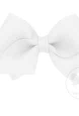 wee ones WHITE - WEE CLASSIC GROSGRAIN  BOW