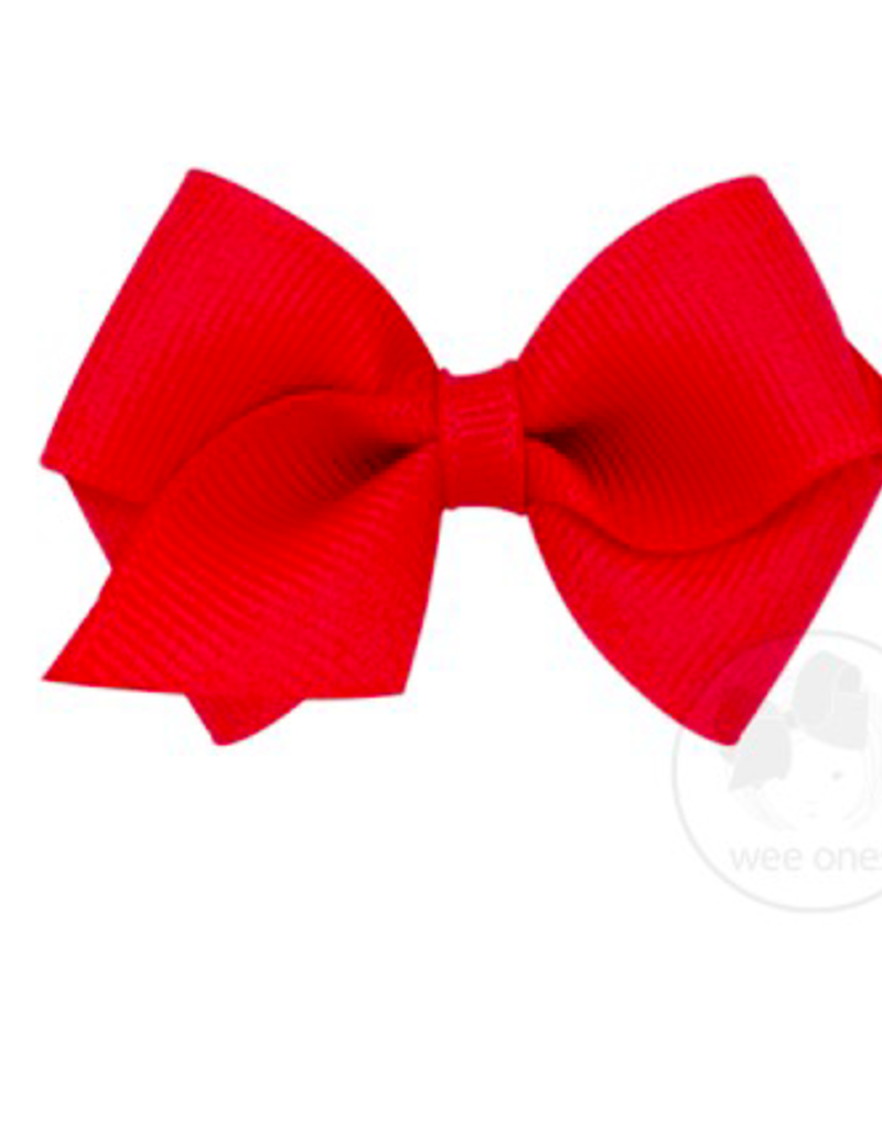 wee ones RED- WEE CLASSIC GROSGRAIN  BOW