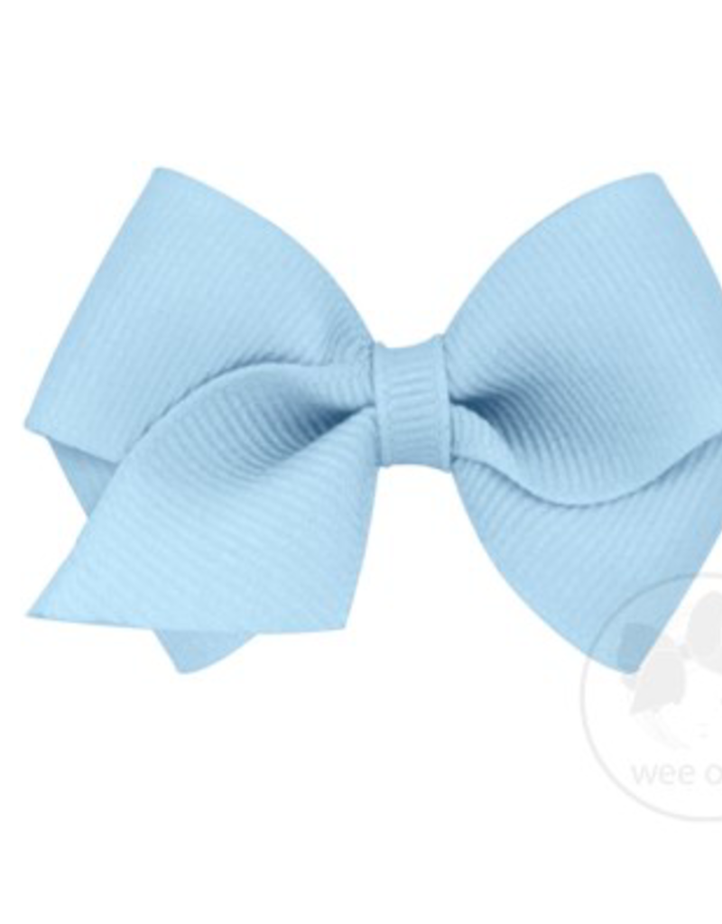 wee ones MILLENNIUM BLUE- WEE  CLASSIC GROSGRAIN  BOW