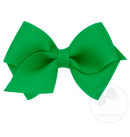 wee ones GREEN-WEE CLASSIC GROSGRAIN  BOW