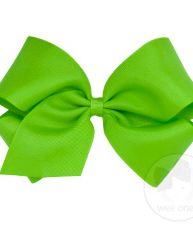 wee ones GRASSHOPPER GREEN- MINI BASIC GROSGRAIN BOW