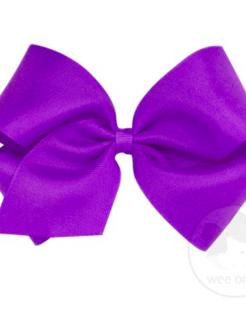 wee ones DELPHINIUM - MINI CLASSIC GROSGRAIN  BOW