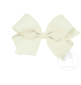 wee ones ANTIQUE WHITE - MINI CLASSIC GROSGRAIN  BOW