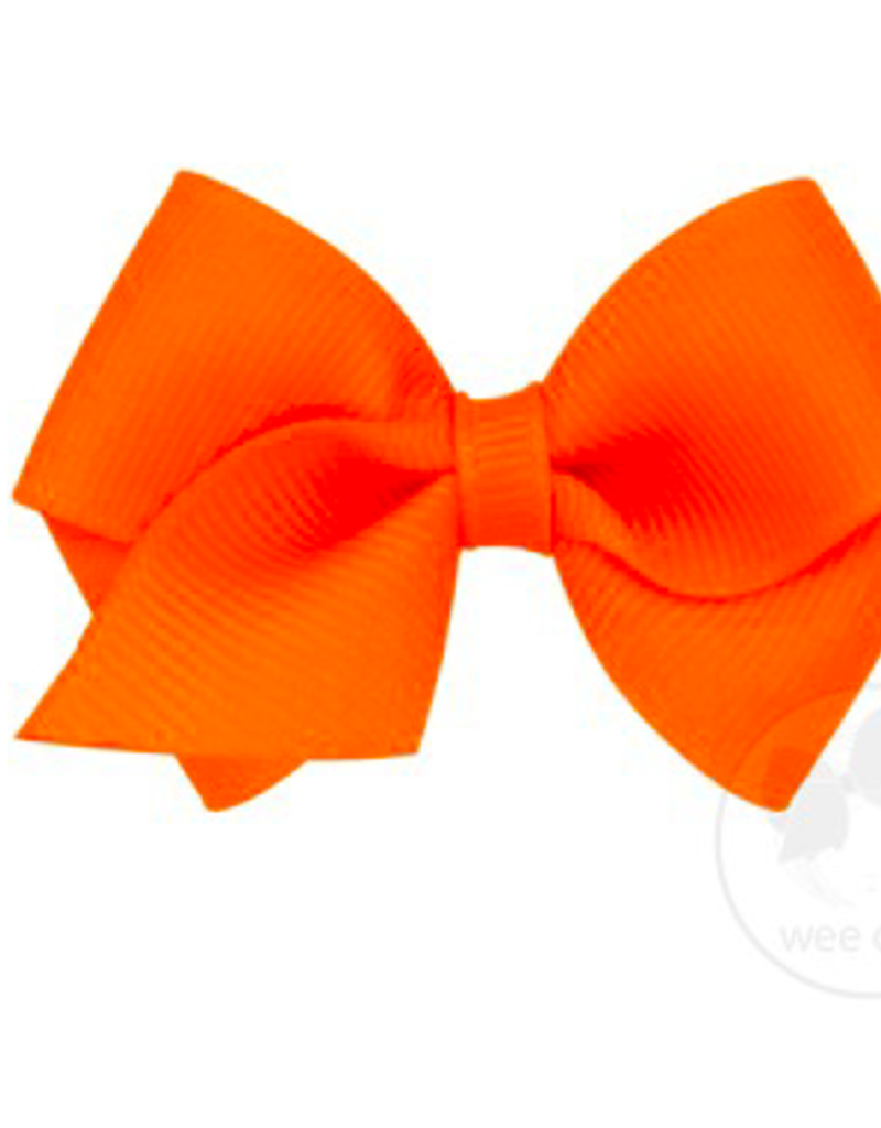 wee ones ORANGE - WEE BASIC GROSGRAIN BOW