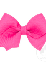 wee ones HOT PINK- WEE CLASSIC GROSGRAIN  BOW