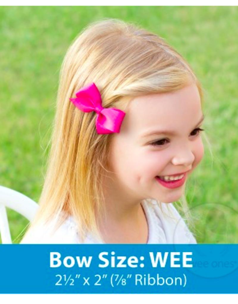 wee ones GRASSHOPPER GREEN- WEE BASIC GROSGRAIN BOW