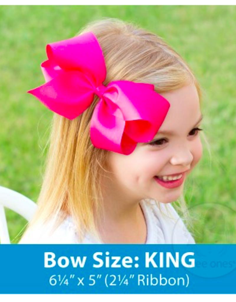 wee ones BIG SISTER - KING GROSGRAIN BOW
