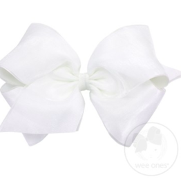 wee ones ORGANZA/GROSGRAIN WHITE - KING OVERLAY BOW