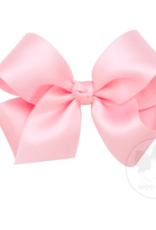 wee ones CLLIGHT PINK - MEDIUM CLASSIC FRENCH SATIN BOW