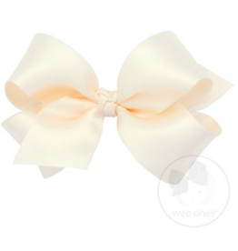 wee ones ECRU- MINI CLASSIC FRENCH SATIN BOW