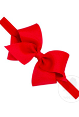 wee ones RED -  CLASSIC GROSGRAIN BOW ON HEADBAND