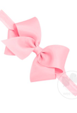 wee ones LIGHT PINK -  CLASSIC GROSGRAIN BOW ON HEADBAND
