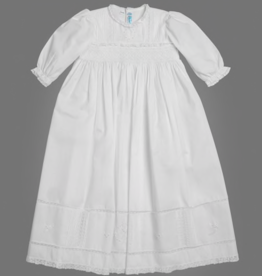 FELTMAN BROS LONG SLEEVE PEARL CHRISTENING GOWN W/HAT