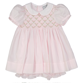 FELTMAN BROS ROSEBUD DIAMOND SMOCKED DRESS