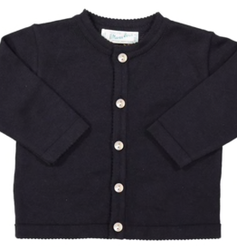 FELTMAN BROS NAVY CLASSIC KNIT CARDIGAN (SIZES 12, 18 & 24 MONTHS)