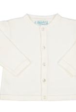 FELTMAN BROS WHITE CLASSIC KNIT CARDIGAN