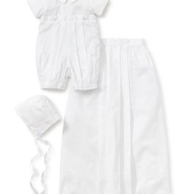 KISSY KISSY BOYS GRAHAM SHORT SLEEVE CHRISTENING CONVERTIBLE GOWN W/HAT