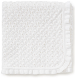 KISSY KISSY WHITE JAYDEN KNIT BLANKET
