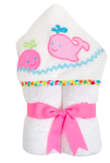 3 MARTHAS EVERYKID PINK WHALES TOWEL