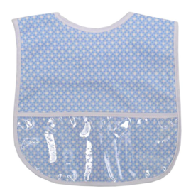 3 MARTHAS BLUE DOT LAMINATED FEEDING BIB