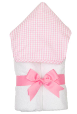 3 MARTHAS PINK EVERYKID CHECK TOWEL