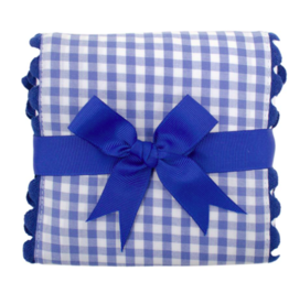 3 MARTHAS BLUE AND WHITE FANCY BURP PAD