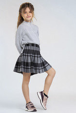 MAYORAL TRICOT PLAID SKIRT