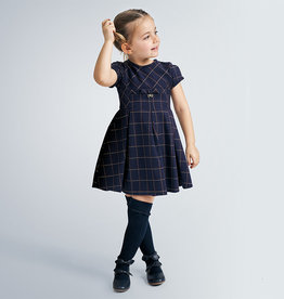 MAYORAL PLAID JACQUARD DRESS