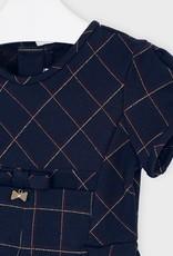MAYORAL PLAID JACQUARD DRESS