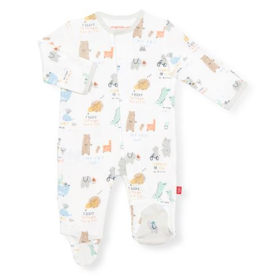 MAGNIFICENT BABY MY YEAR OF FIRSTS ORGANIC COTTON FOOTIE