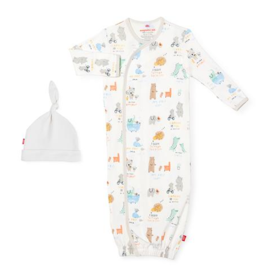 MAGNIFICENT BABY MY YEAR OF FIRSTS ORGANIC COTTON GOWN & HAT