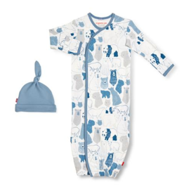 MAGNIFICENT BABY UNBEARABLY CUTE ORGANIC COTTON GOWN & HAT