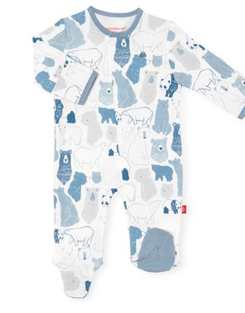 MAGNIFICENT BABY UNBEARABLY CUTE ORGANIC COTTON FOOTIE