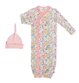 MAGNIFICENT BABY CHELSEA ORGANIC COTTON GOWN & HAT