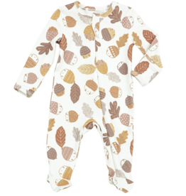 ANGEL DEAR ACORNS ZIPPER FOOTIE