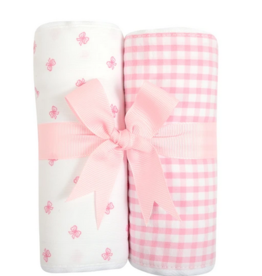 3 MARTHAS BOW FABRIC BURP PADS SET OF 2