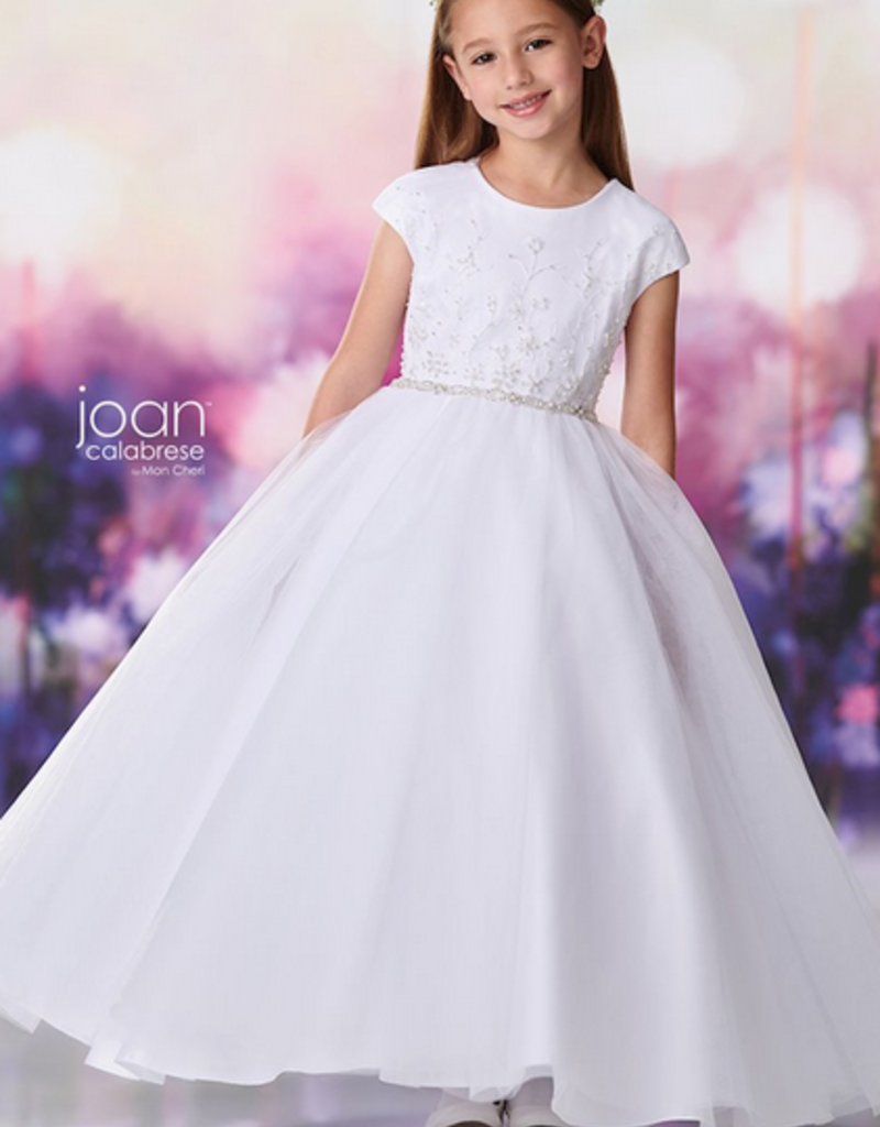 JOAN CALABRESE SATIN & TULLE DRESS
