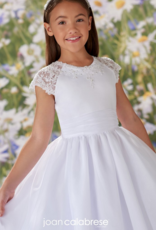 JOAN CALABRESE BEADED LACE APP ORGANZA, SATIN & TULLE DRESS