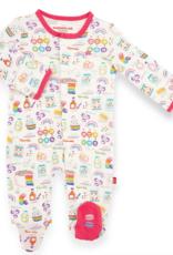 MAGNIFICENT BABY RAINBOW SPRINKLE ORGANIC CTN FOOTIE