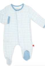 MAGNIFICENT BABY GREENWICH PLAID  MODAL FOOTIE