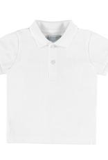 MAYORAL WHITE BASIC S/S POLO SHIRT