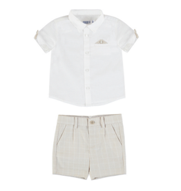 MAYORAL DRESSY LINEN SHORT SET