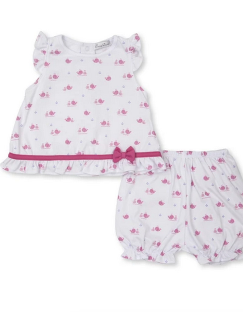 KISSY KISSY BREACHING WHALES SUNSUIT W/BLOOMERS