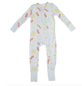 ANGEL DEAR BACON & EGGS FRT ZIPPER ROMPER
