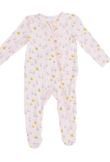 ANGEL DEAR LITTLE BEE RUFFLE FRT ZIPPER FOOTIE