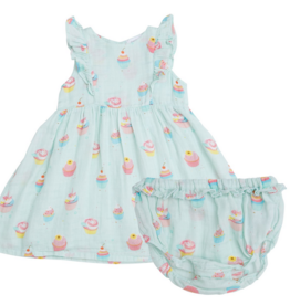 ANGEL DEAR CUPCAKE RUFFLE SUN DRESS W/BLOOMERS